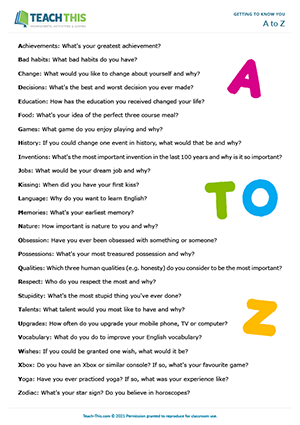 A to Z Preview