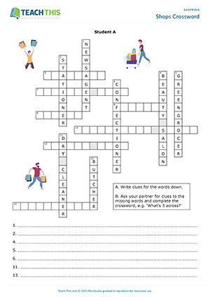 Shops Crossword Preview