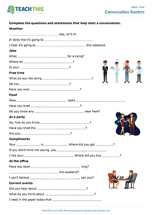 Small Talk ESL Activities Games Role-Plays Worksheets