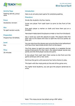 ESL Spelling Games