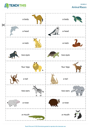 Animals ESL Games Activities