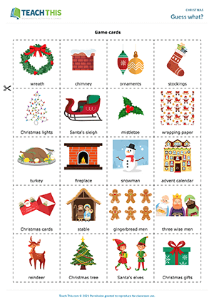 Esl Christmas Worksheets Activities Games