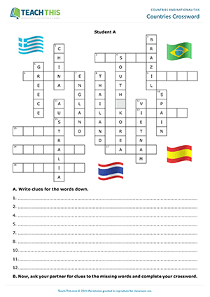 Countries Crossword Preview