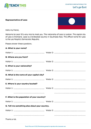 Esl Nationalities Countries Worksheets Activities Games
