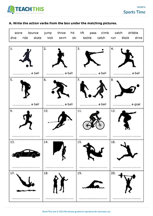 Sports Time Worksheet Preview