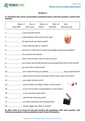 TV Films ESL Activities Worksheets Games