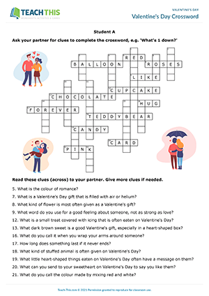 Valentine's Day Crossword Preview