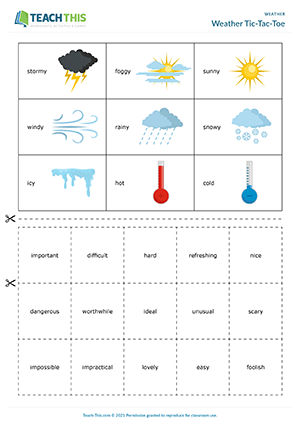 Weather Tic-Tac-Toe Preview