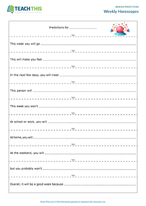 Making Predictions ESL Activities Games Worksheets