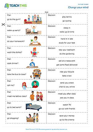 Future Tense Esl Activities Games Worksheets