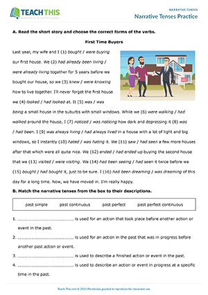 Narrative Tenses Practice Preview