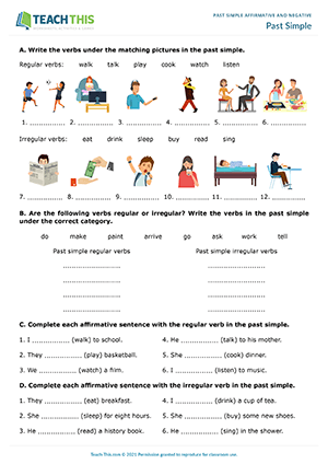 Past Simple Affirmative Negative Games Activities ESL Worksheets