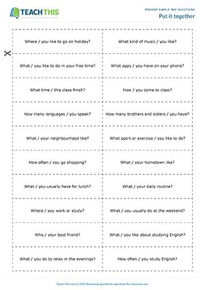 Questions simple conversation English conversation